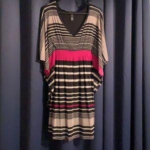 INC -black & magenta striped dress
